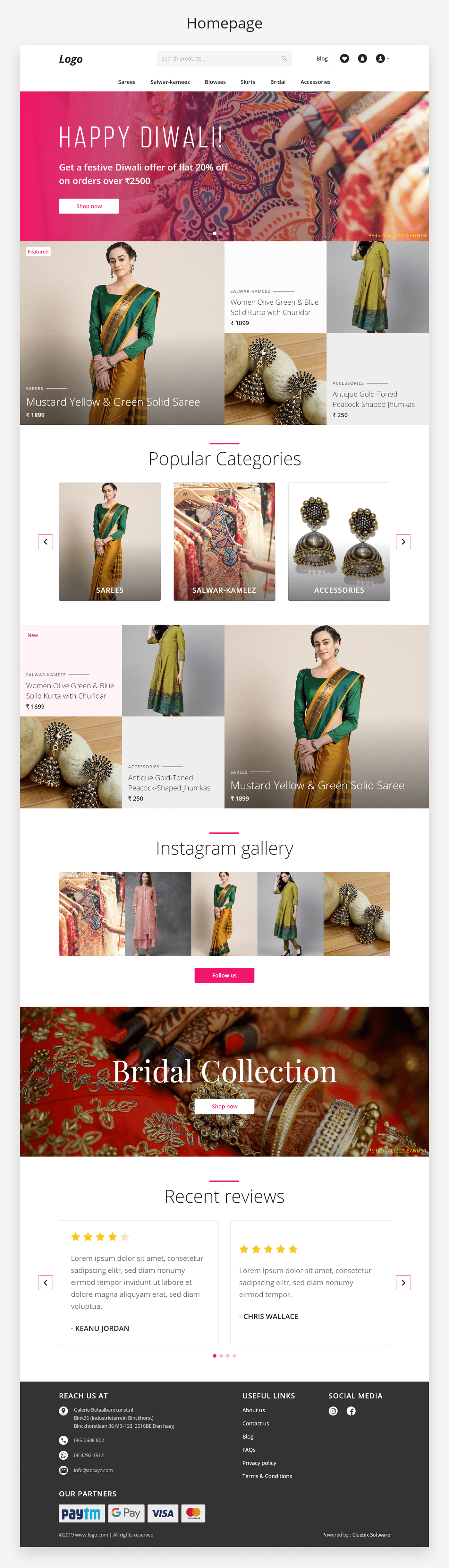 Website Design Ecommerce UI/UX Fashion  boutique
