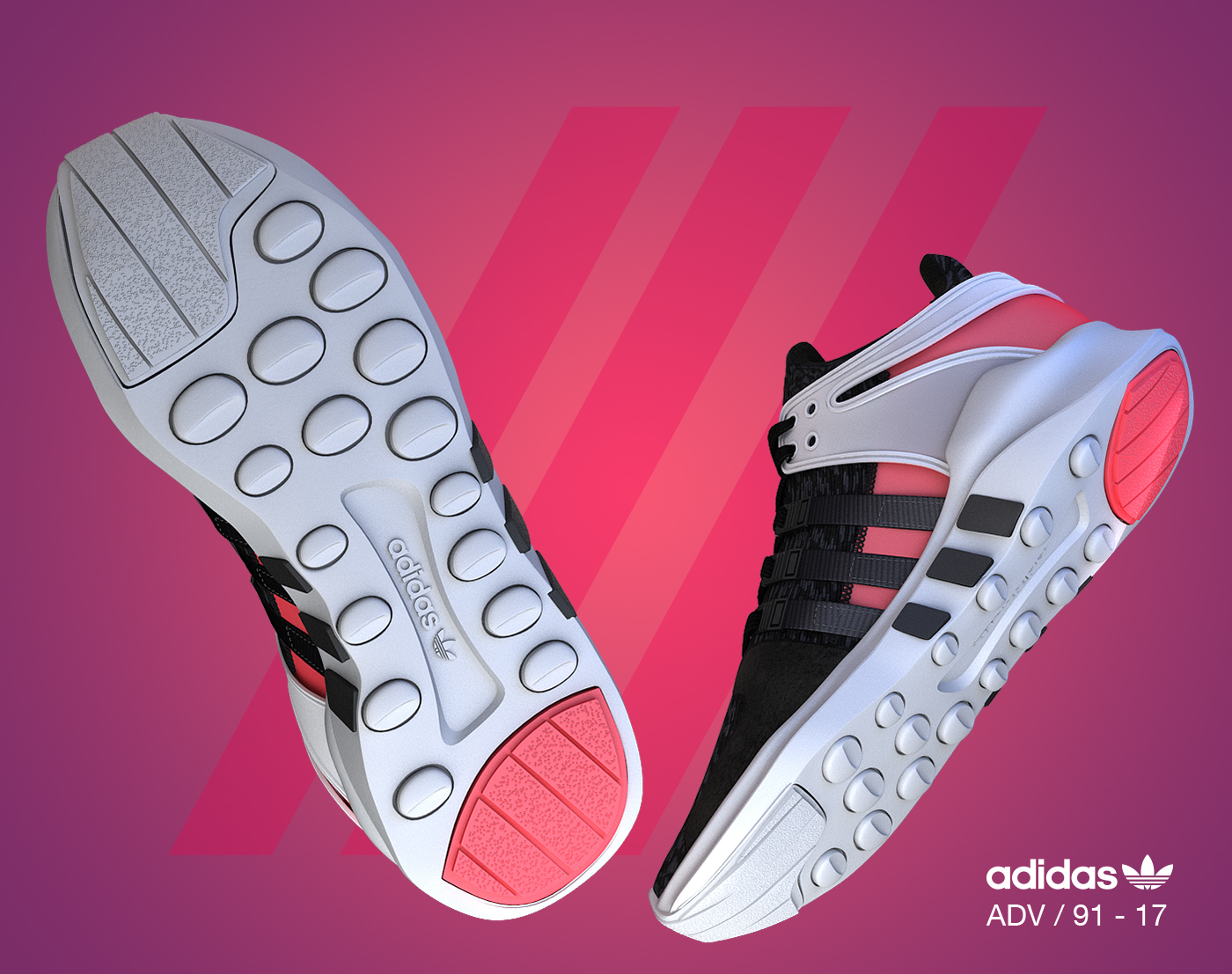 eqt adidas 3D vray MAX shoe shoes sport running sneakers