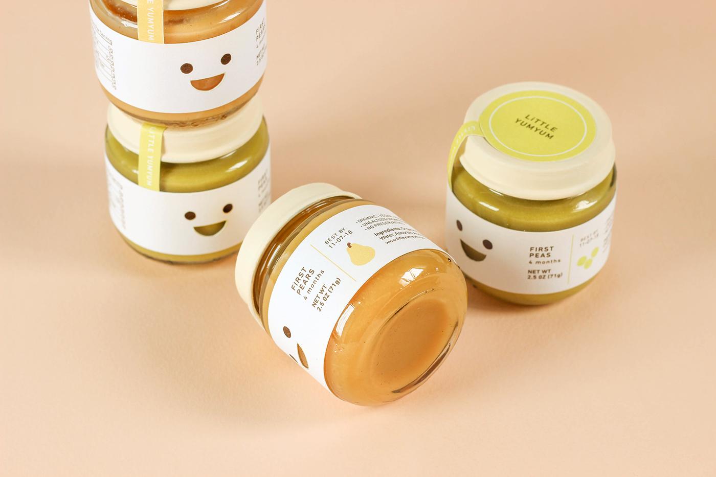 repackaging risd RISD Graphic Design aki nurosi baby food label design cute baby Pear peas