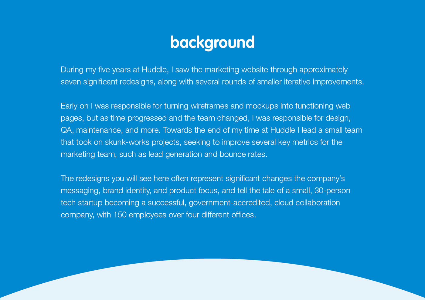 Web Design  website redesign redesign iterative design marketing website huddle