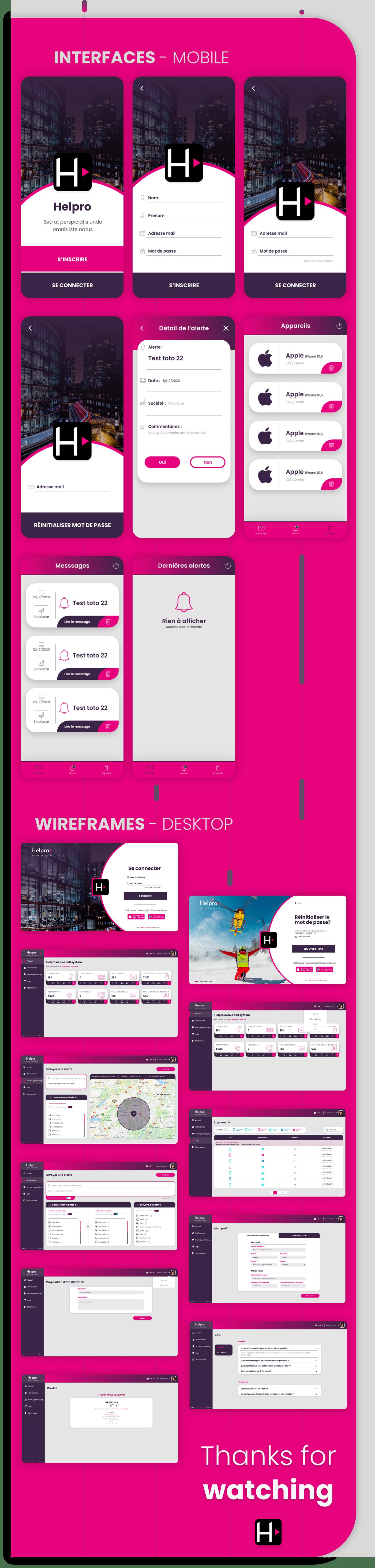 design help helpro interfaces redesign UI/UX Design wireframes