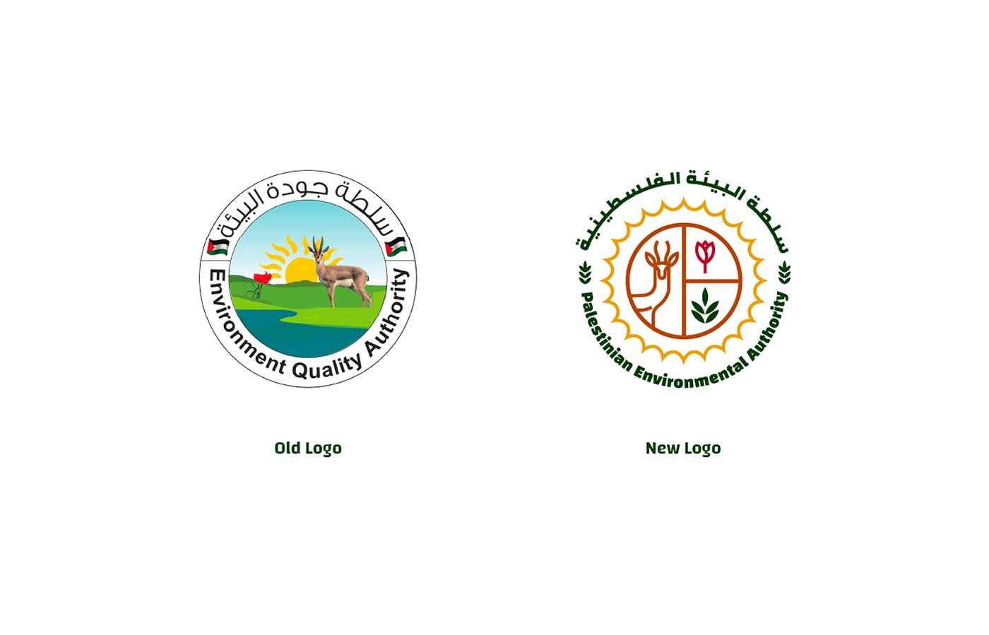 authority branding  emblem logo Environmen branding environmental branding environmental logo identity palestine palestinian visual identity