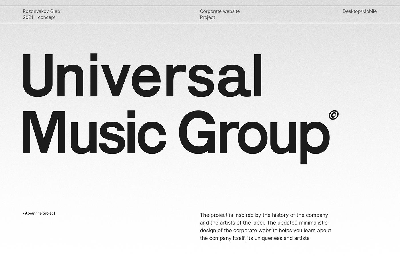 animation  concept corporate design grid Minimalism ux/ui Web
