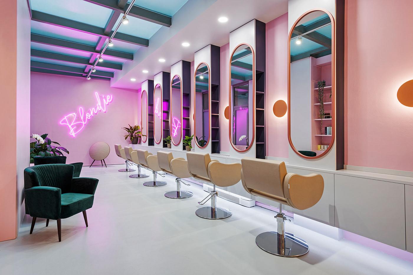 BLONDIE hairsalon elevenaustria budapest gasparbonta balazsbarsi interiordesign