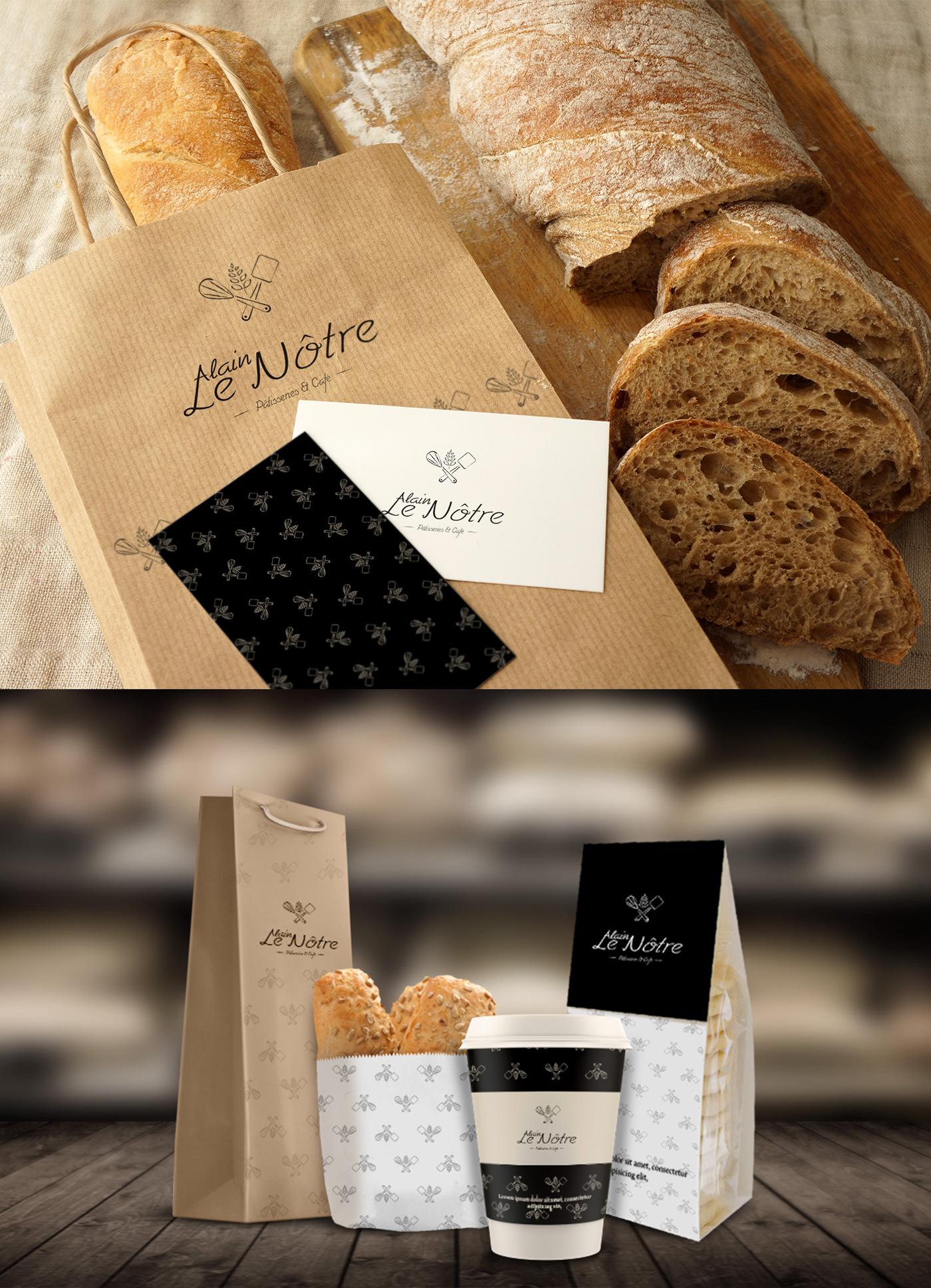 logo creative bakery French design black beig brandinc. Brandinc brand bread cafe Patisserie