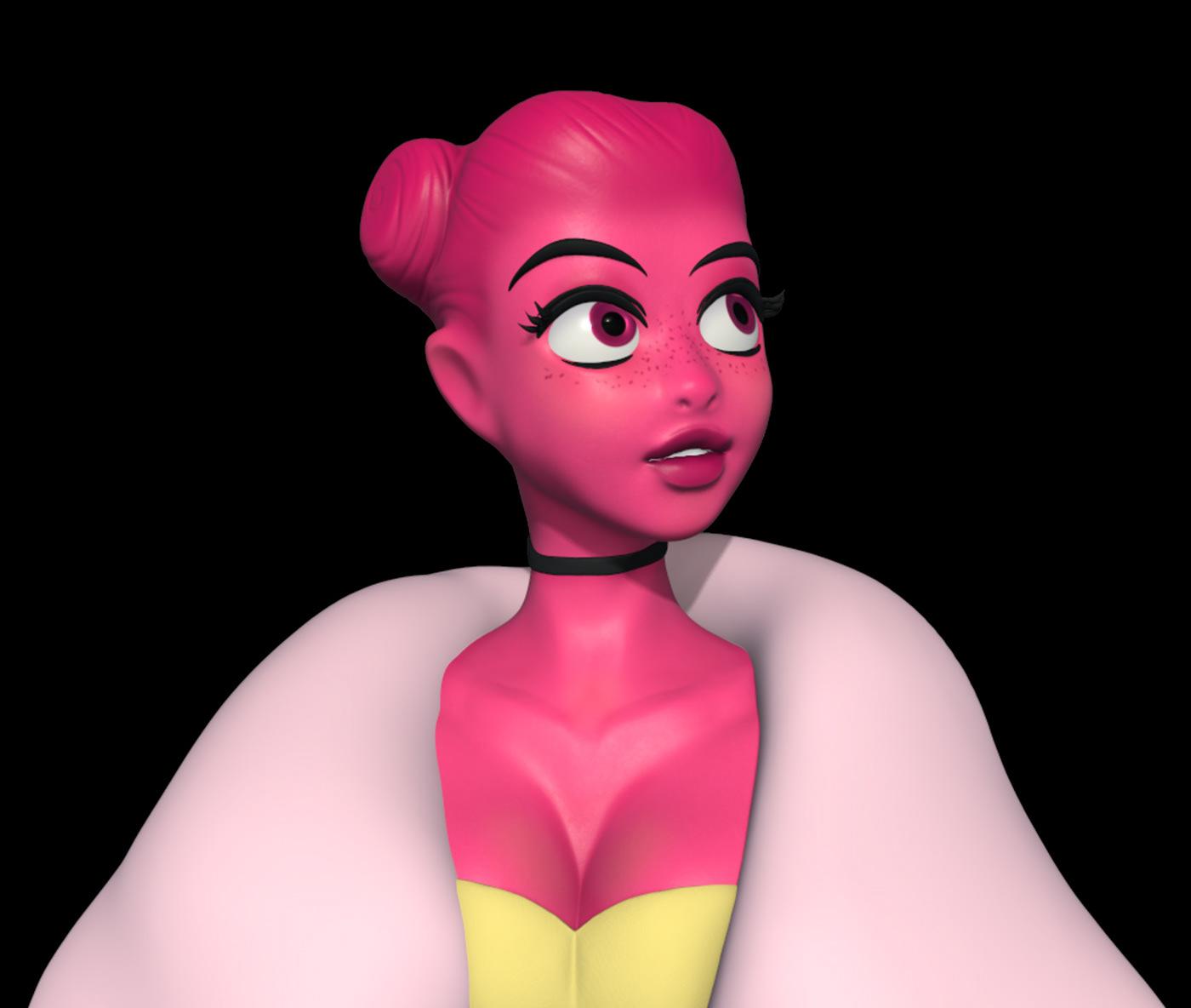 3D anime characterdesign cinema4d color magenta Render Zbrush