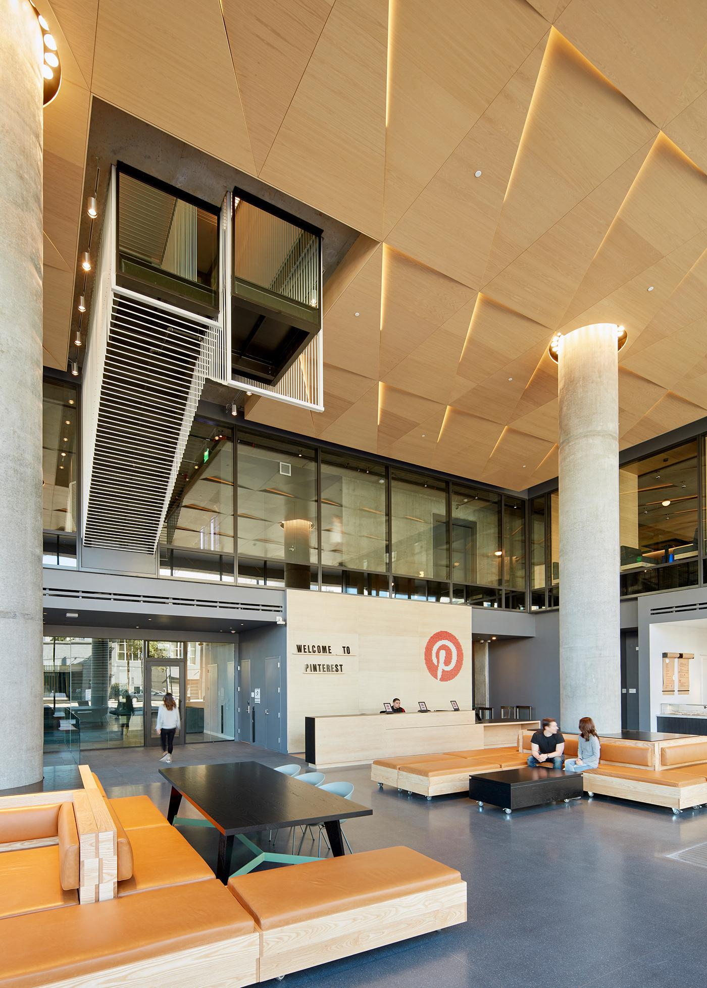 IwamotoScott architecture san francisco Soma Pinterest workspace ceiling stair installation interior design