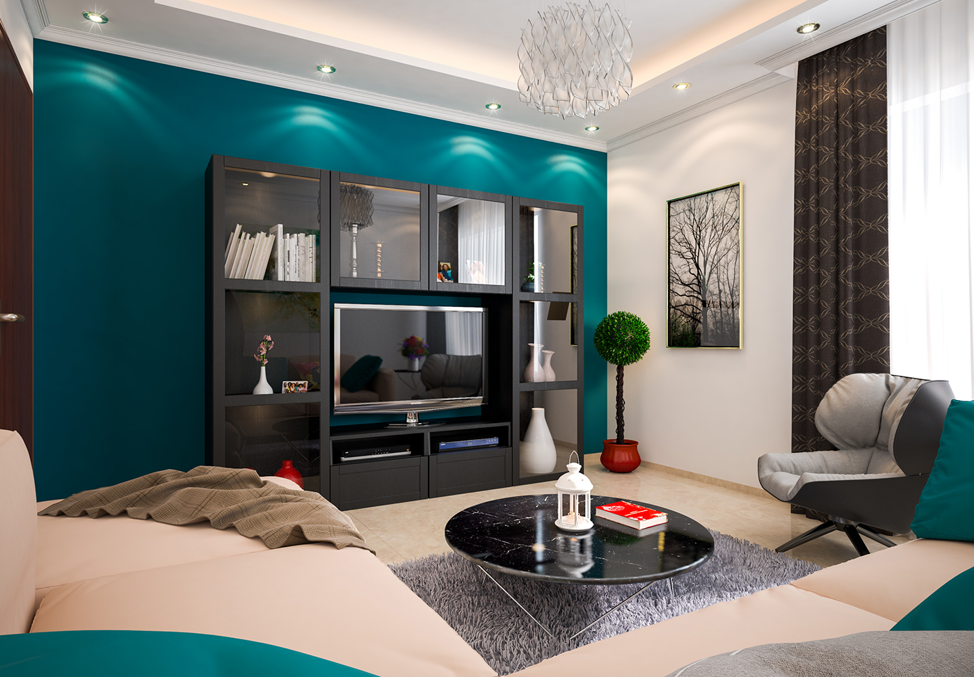 有美感的34張客廳牆壁顏色欣賞