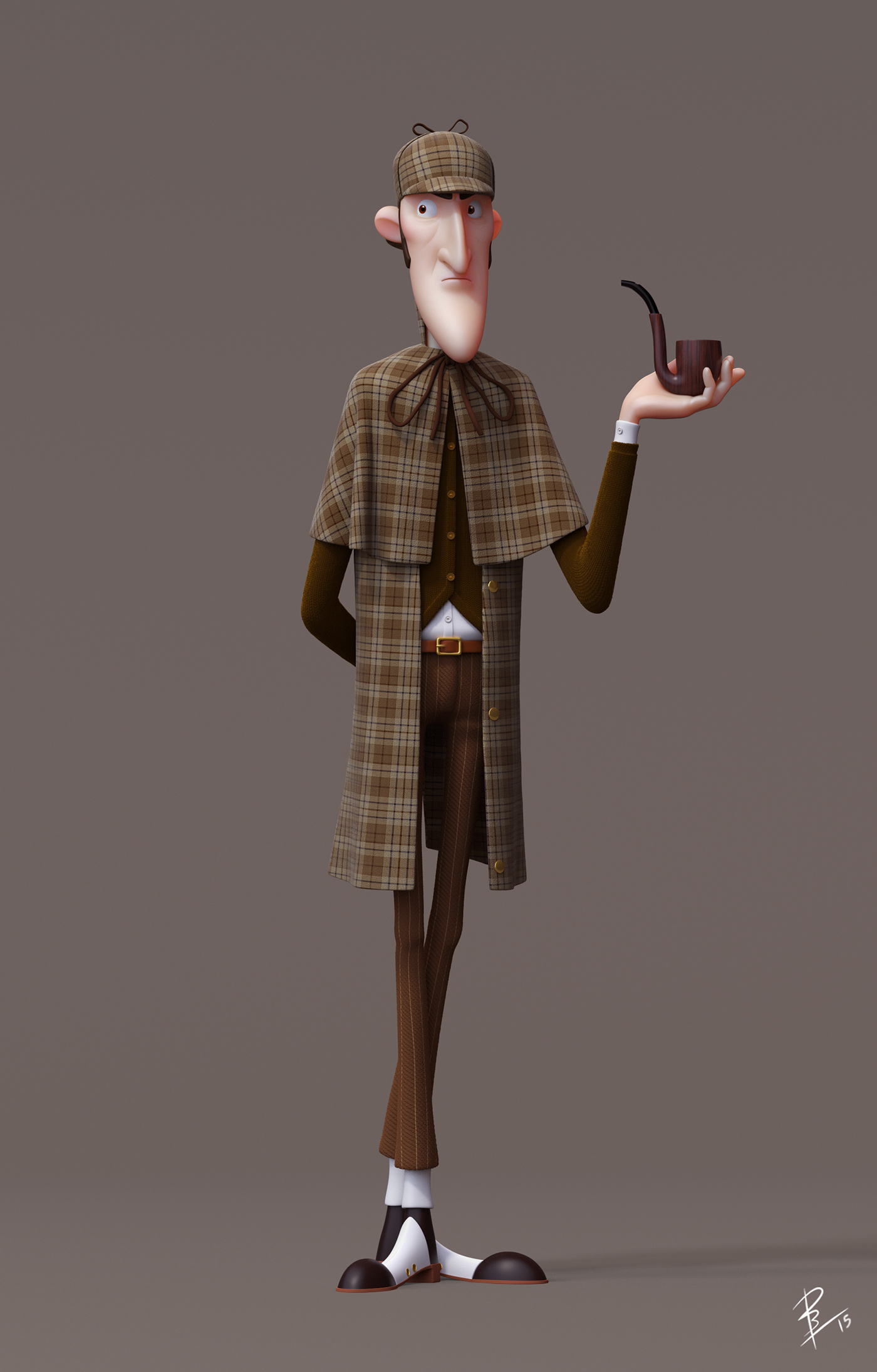 3d Character Design Competition : Sherlock holmes on behance