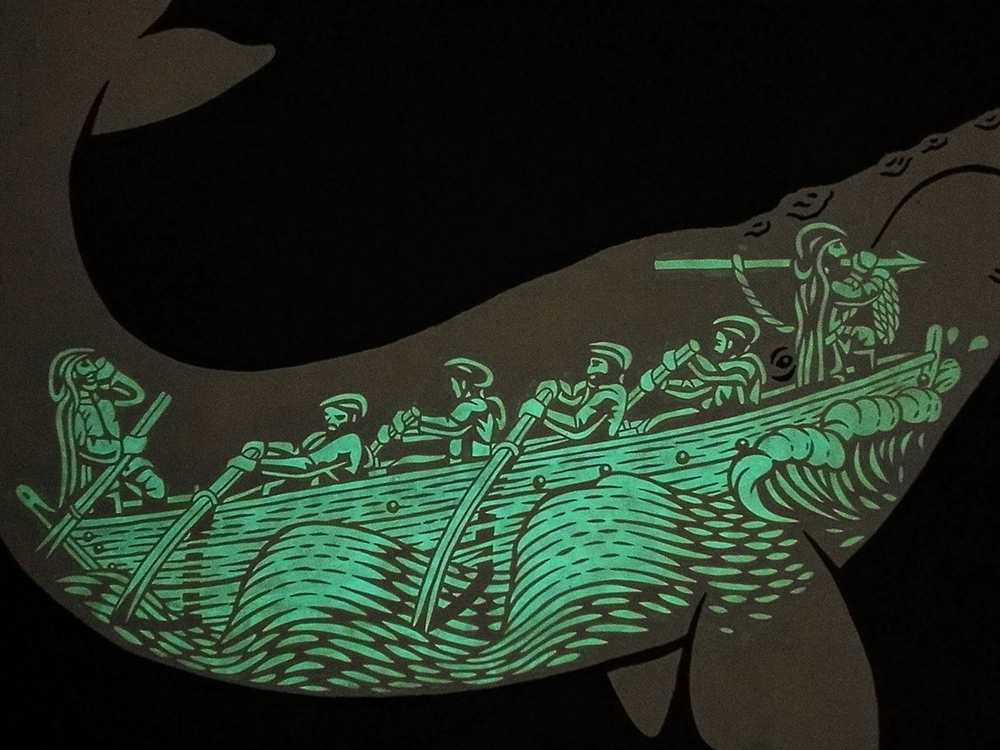 Whale Mural Muralism fresque Marineros Sail boat ballena