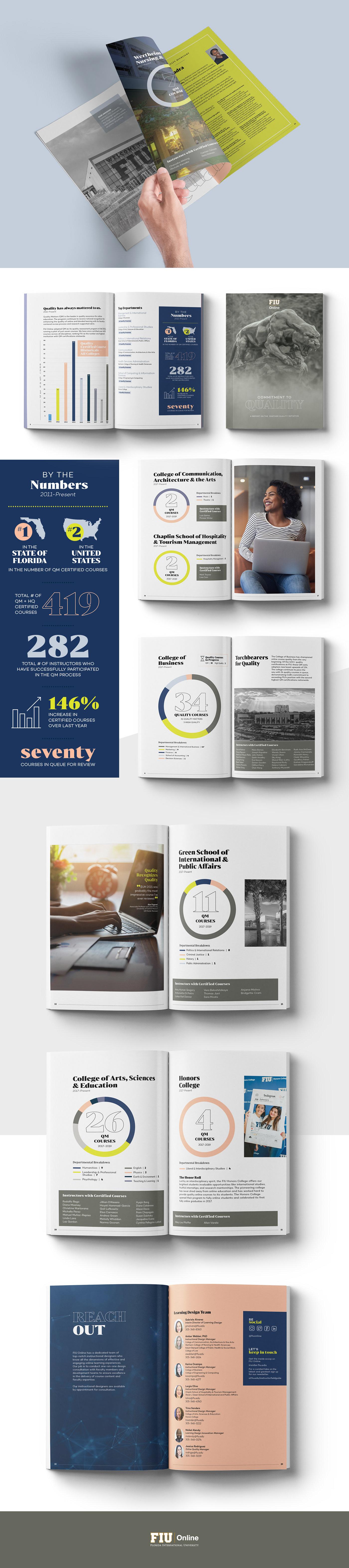 brochure Charts Data design Education higher ed infographics Quality report University