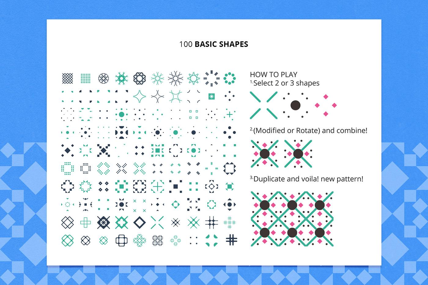 Playful Geometric Patterns Bundle On Behance