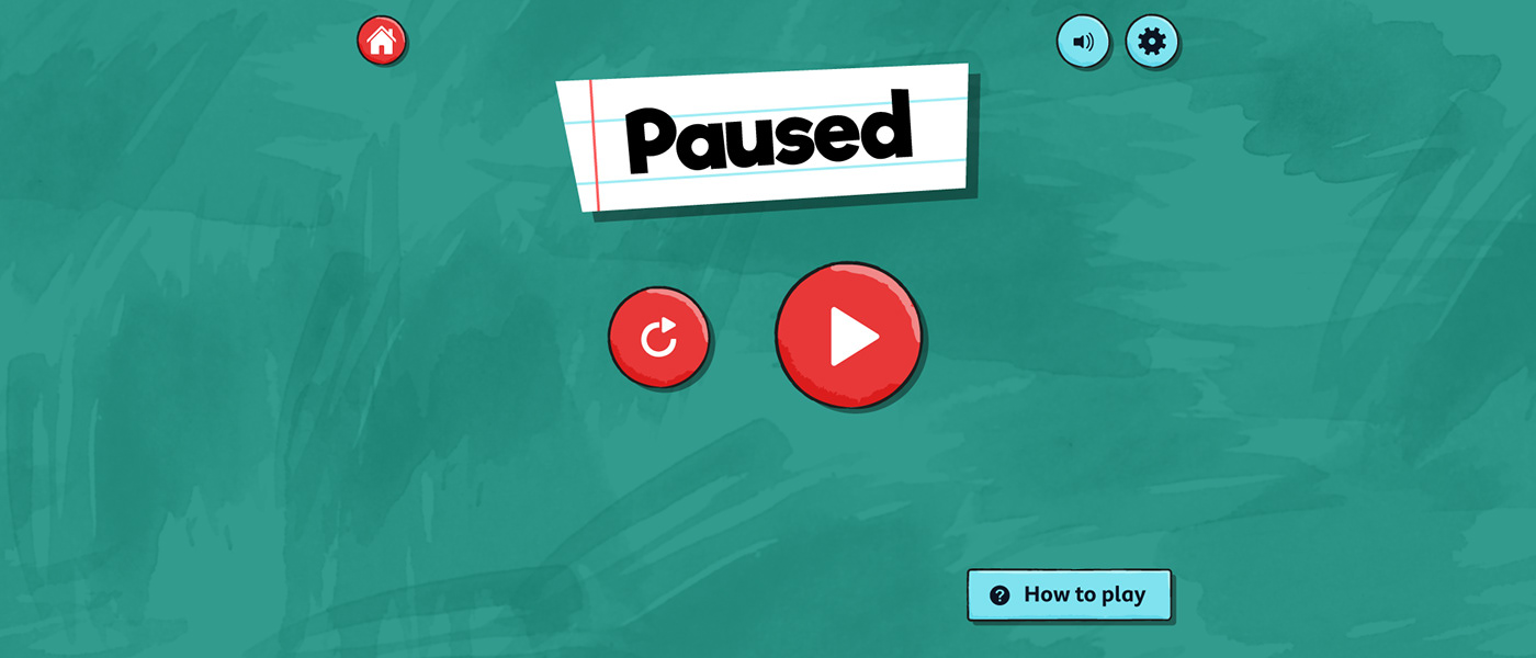 The game's 'Paused' screen.