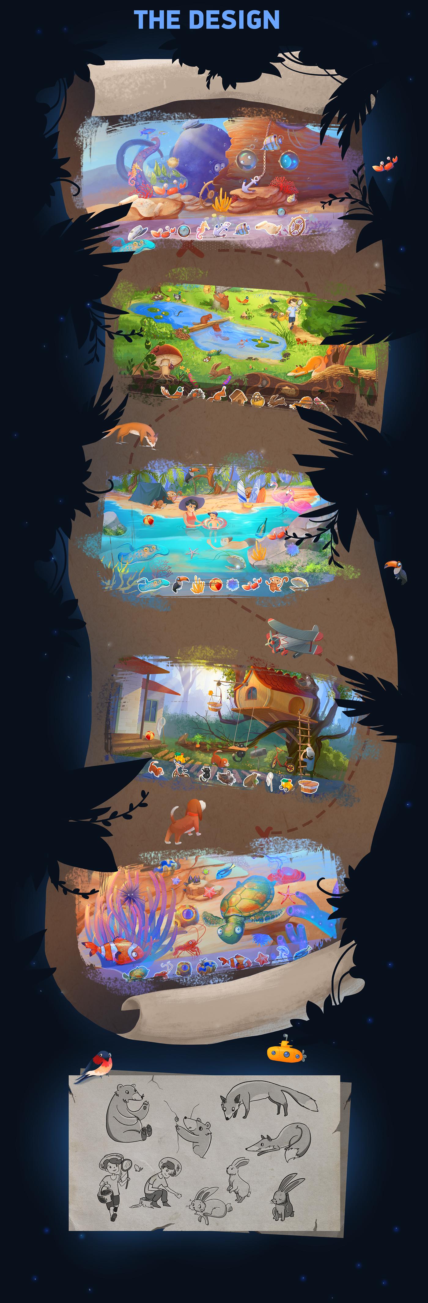 Game Development ILLUSTRATION  hound studio game design  2D art