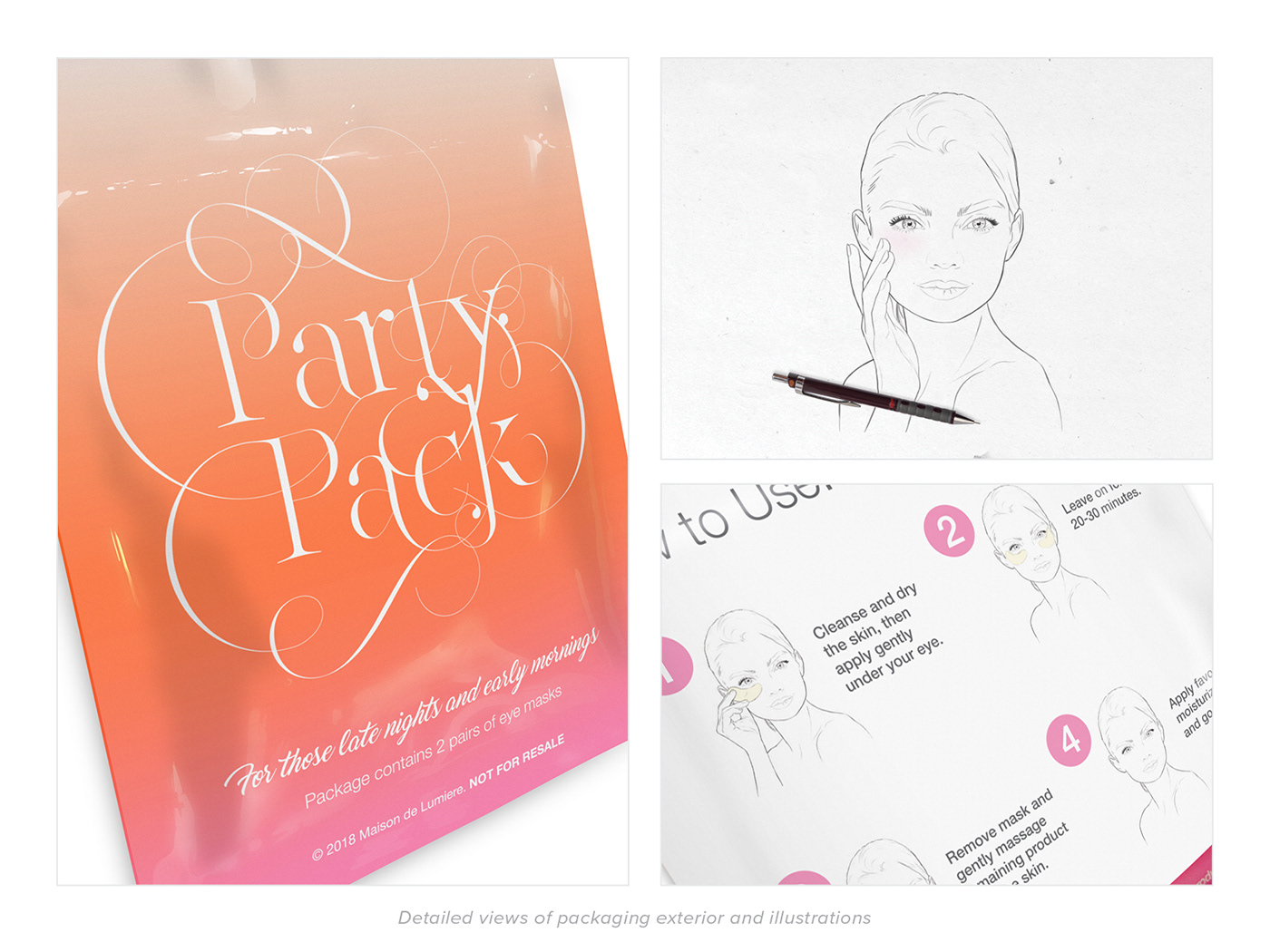 product beauty Packaging graphic design  ILLUSTRATION  Promotional