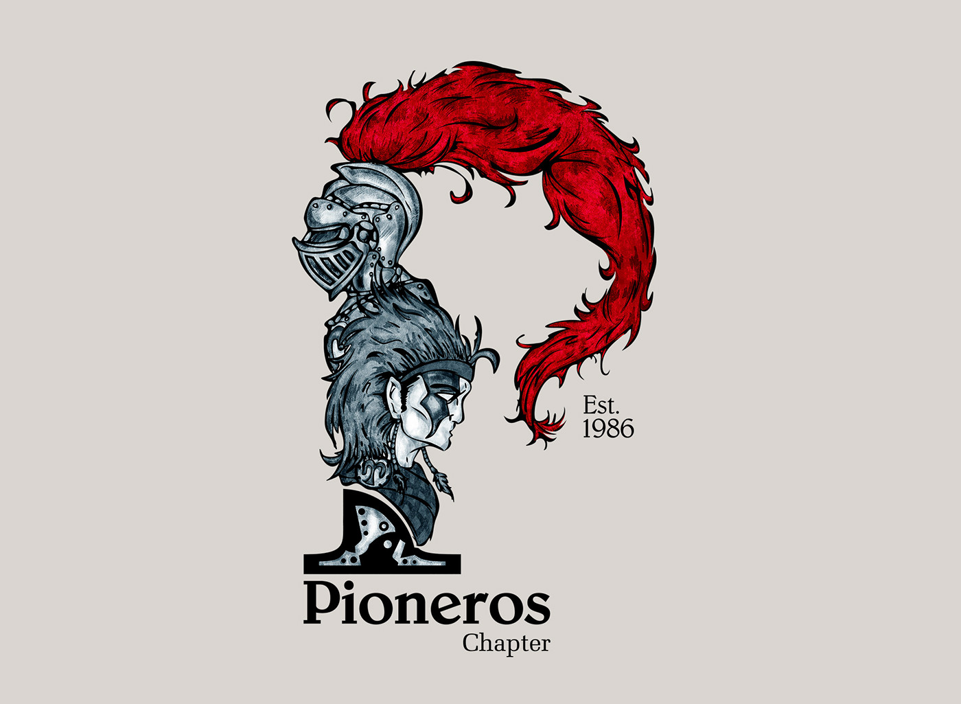 Pioneros t-shirt brand emblem iPad iphone logo