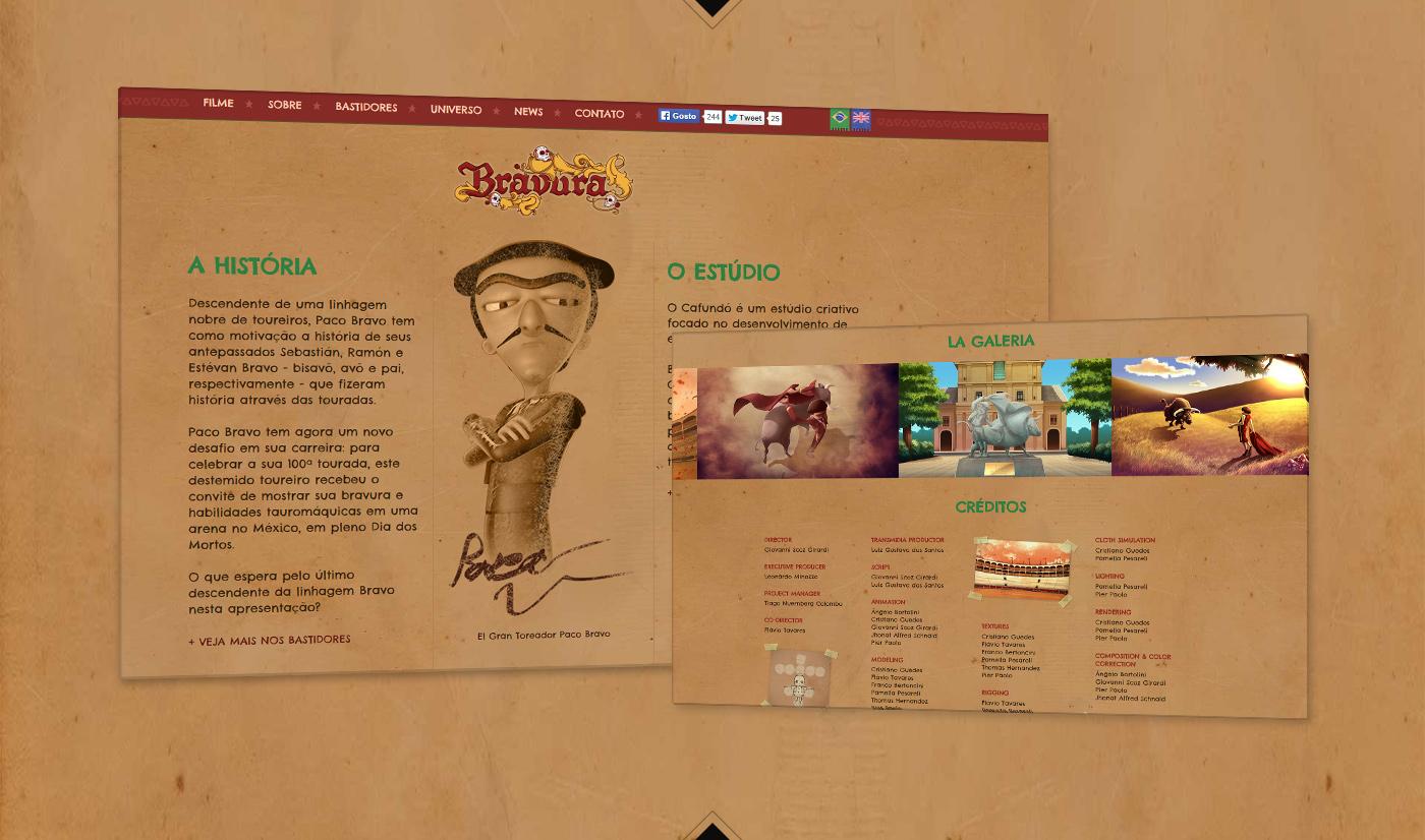 Virtual reality game Oculus Rift interactive Experience Bravura bullfighting bull dead movie 3d animation mexico cafundo