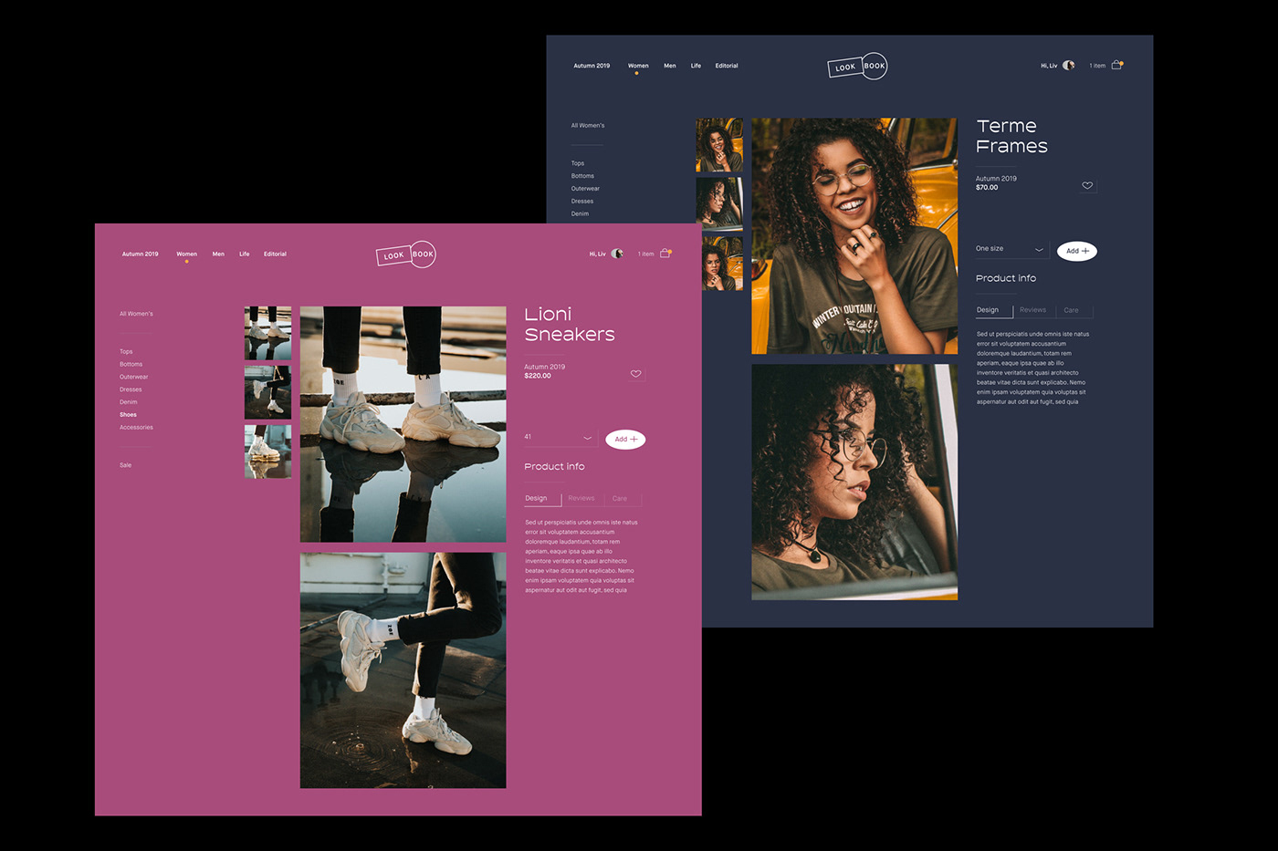 Fashion  interaction UI ux app digital design Adobe XD