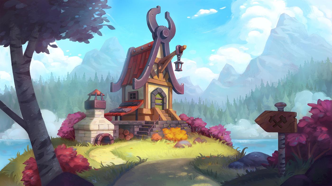 Image may contain: cartoon, painting and fantasy