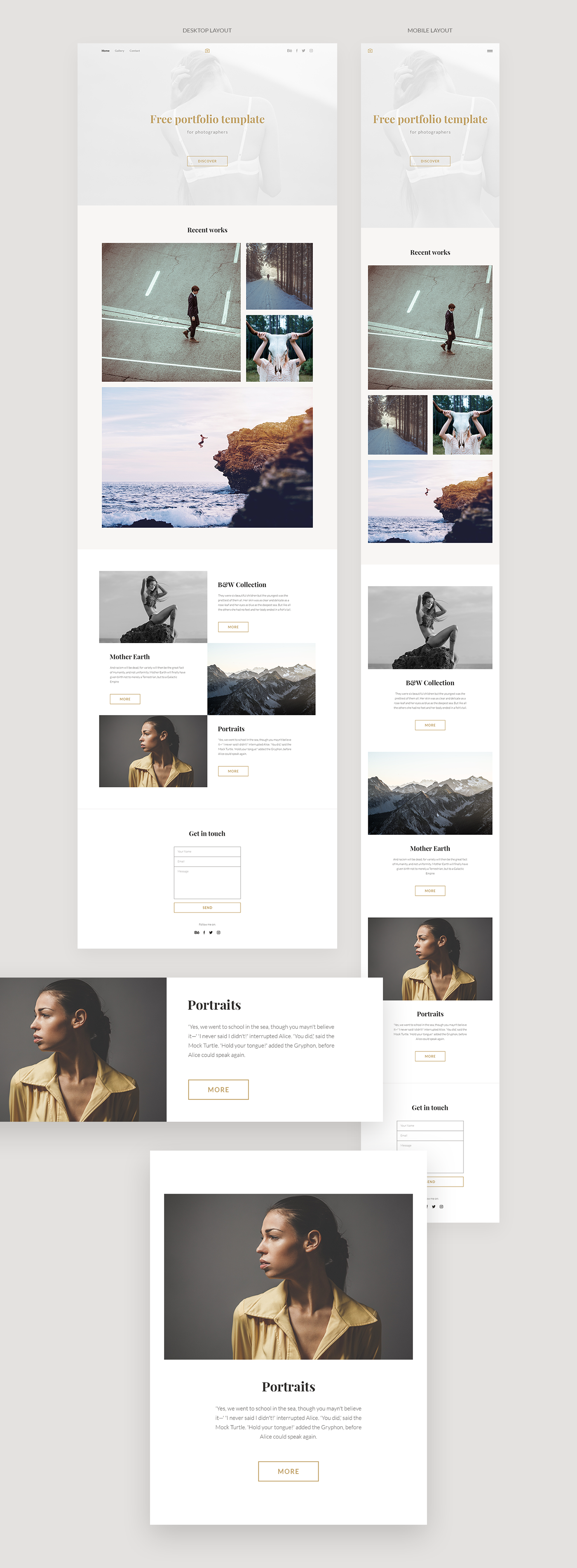FREE PORTFOLIO TEMPLATE On Behance