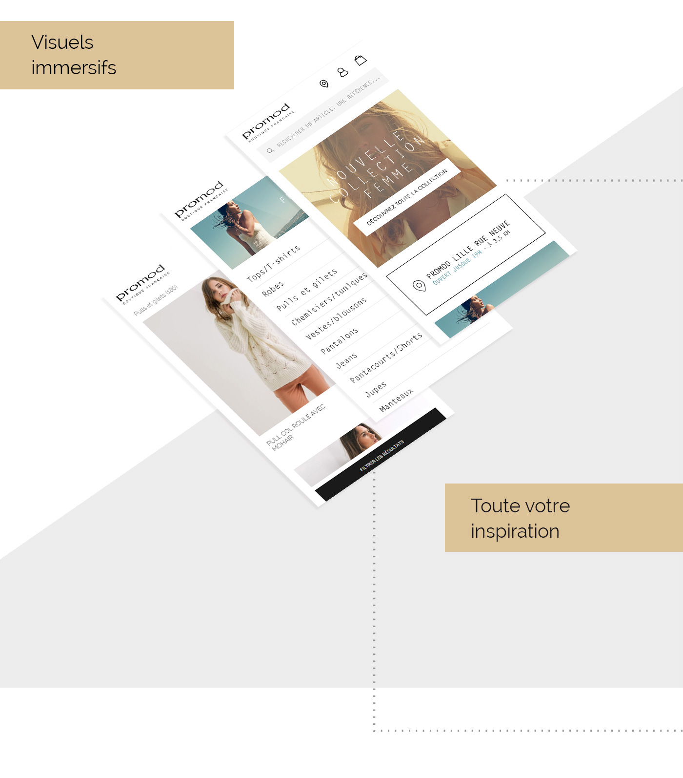 mobile app design e-commerce iphone android Web web mobile