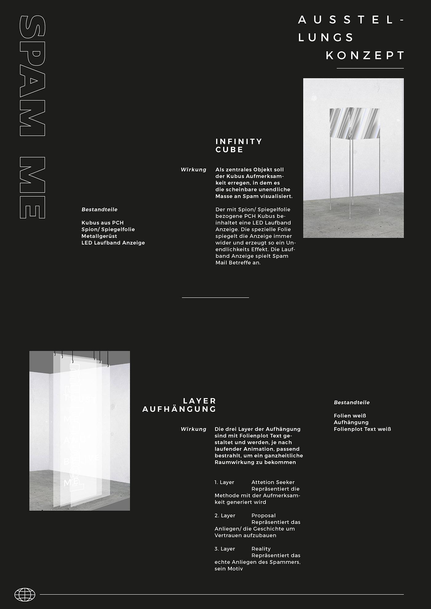 SPAM ME - Exhibition concept on Behance