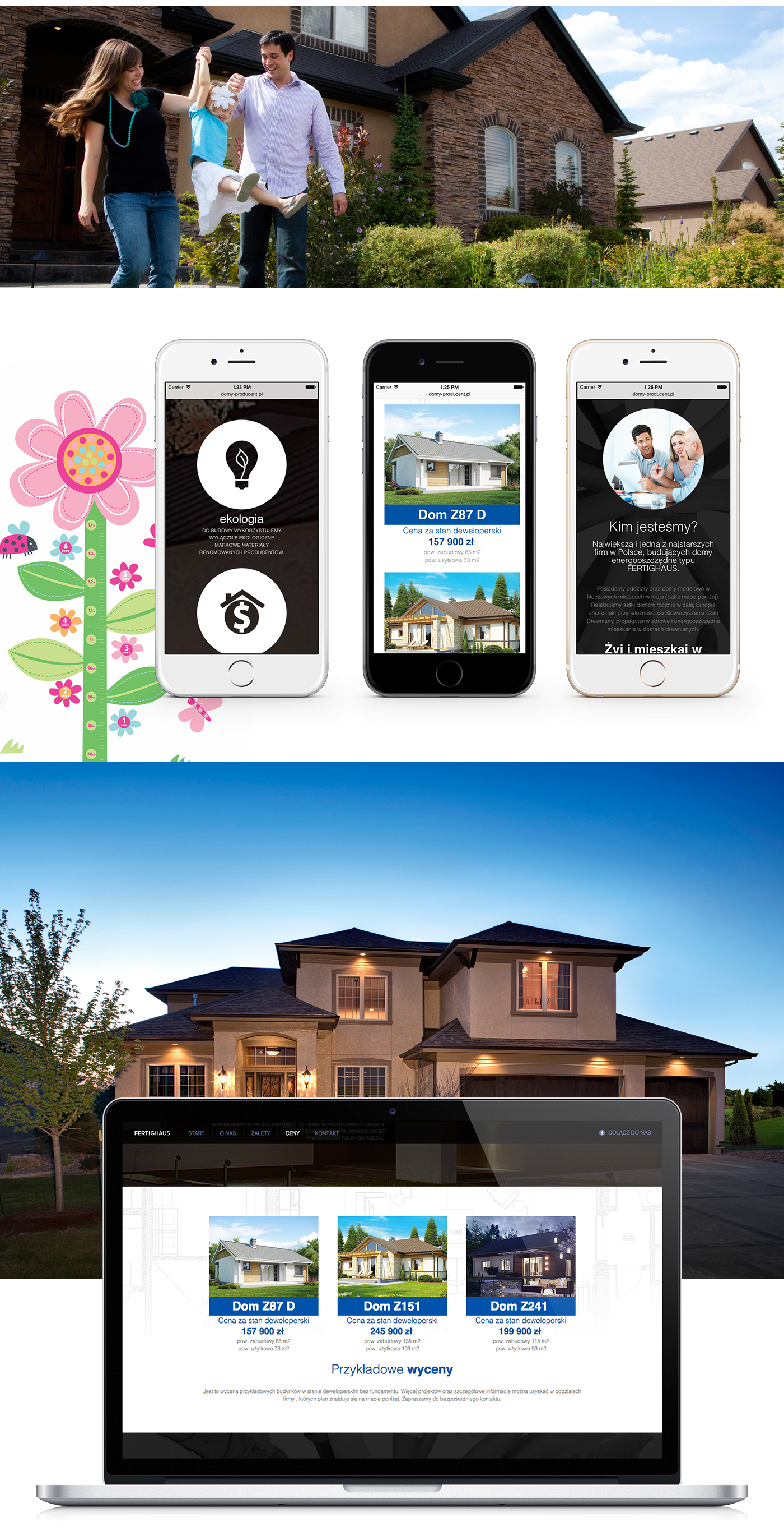 Website graphic project houses onepage modern scrollable clean site www new