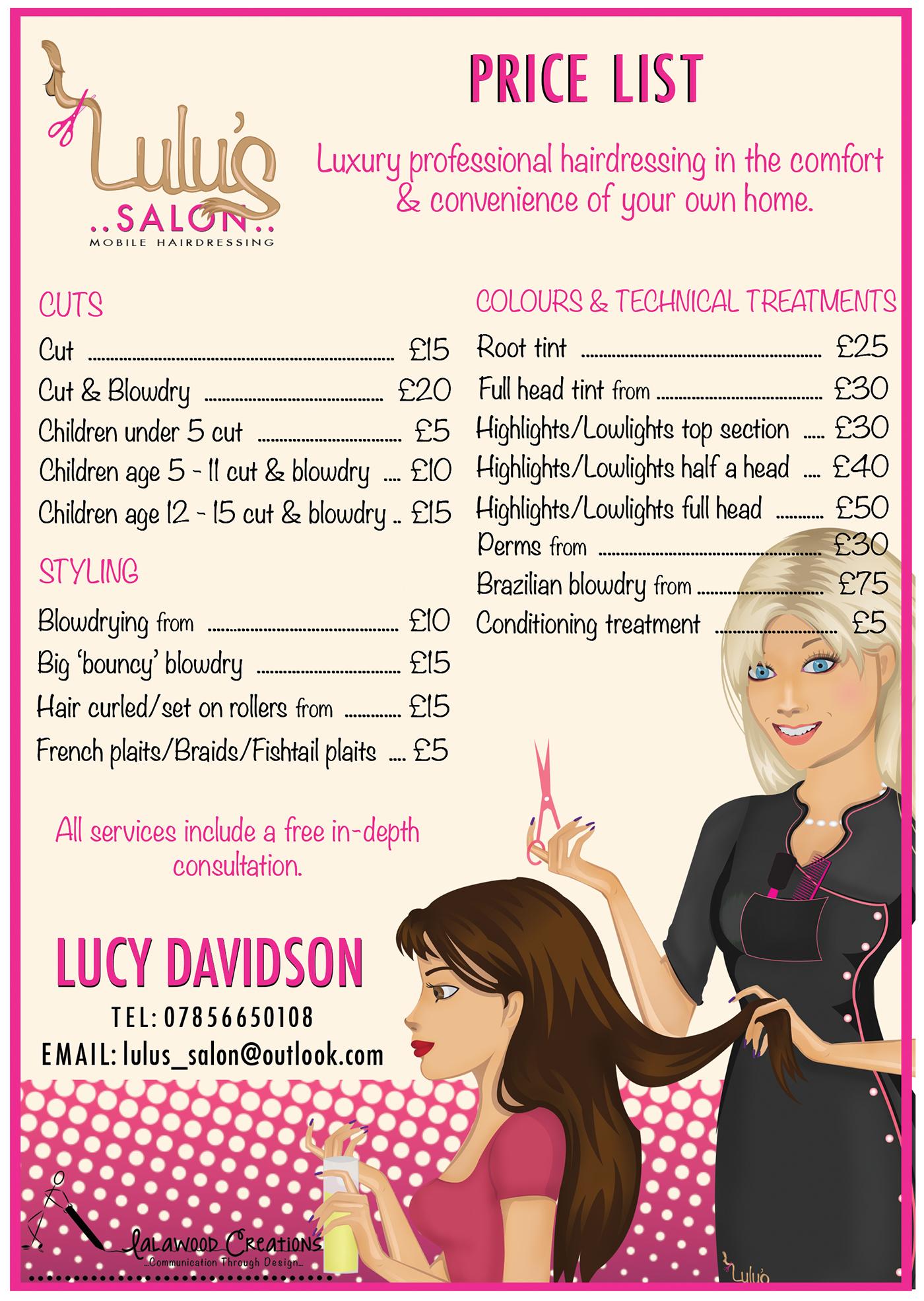 Lulu\'s Salon on Behance