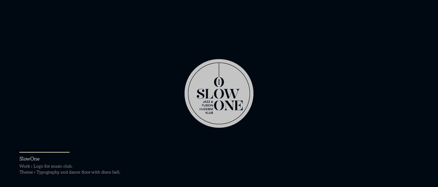 Slow one - logo for music club