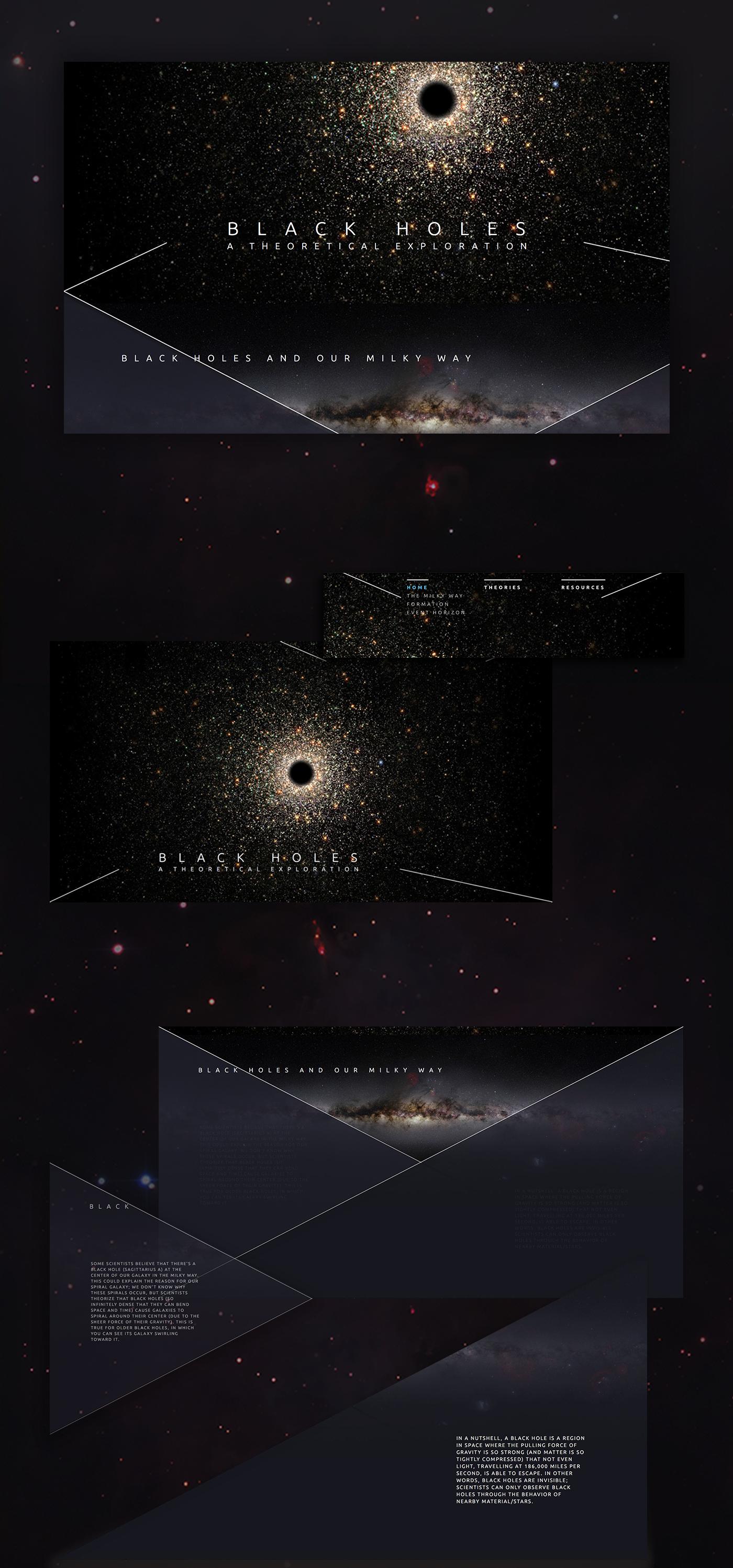Black Holes Space  design stars theory exploration black hole black Web Website Layout gif time relativity