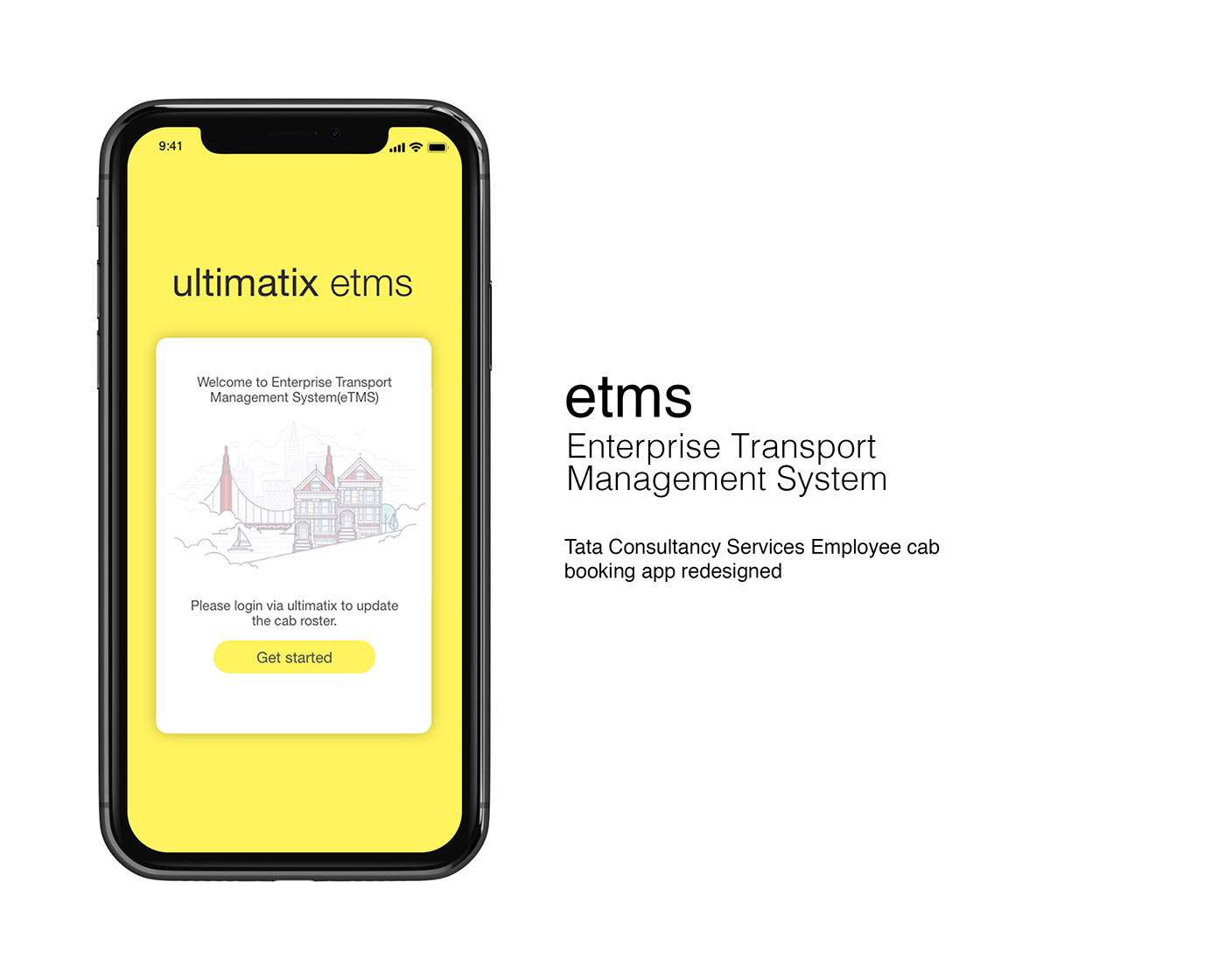 TCS eTMS App redesign on Behance