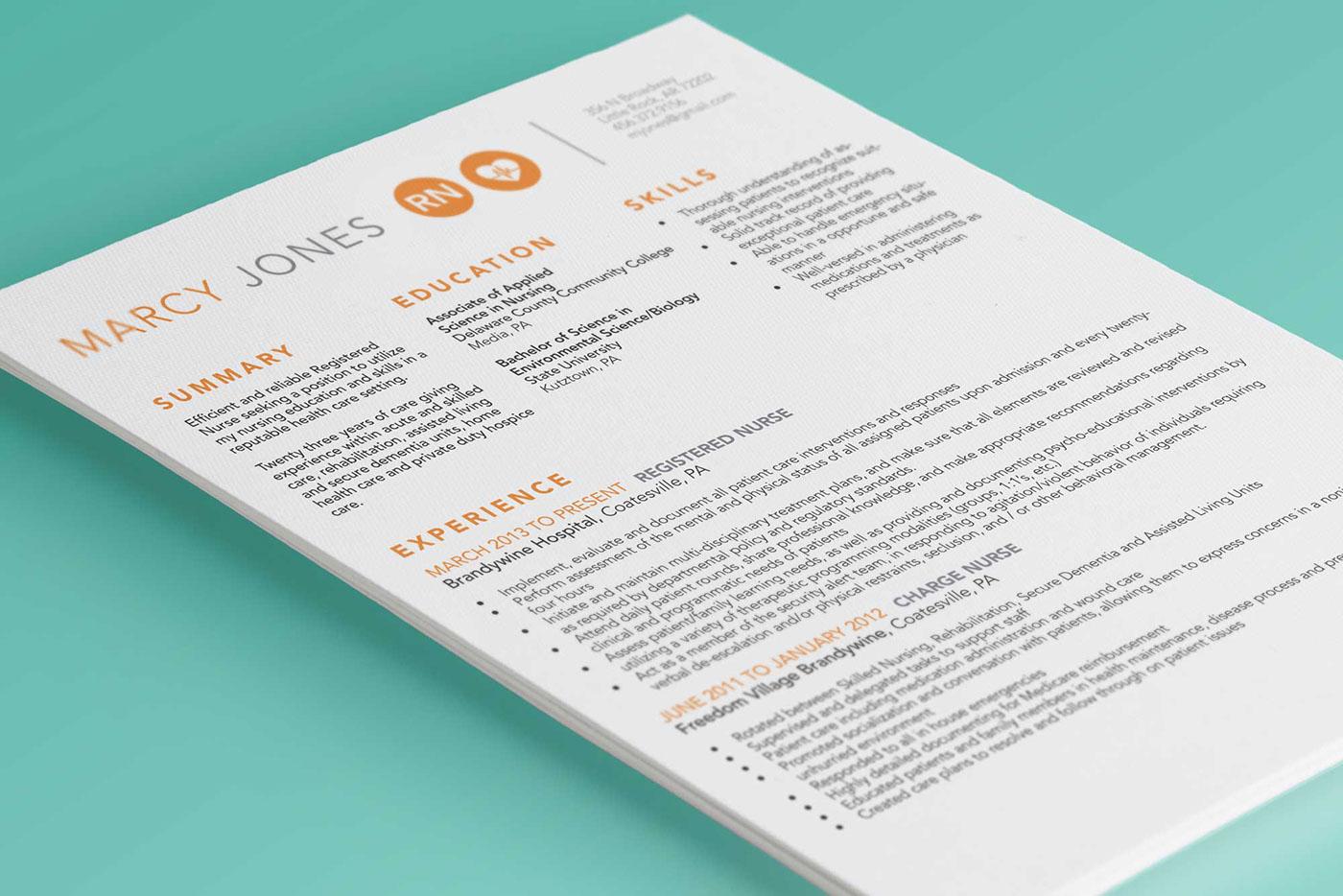 高質感的23套履歷表設計欣賞