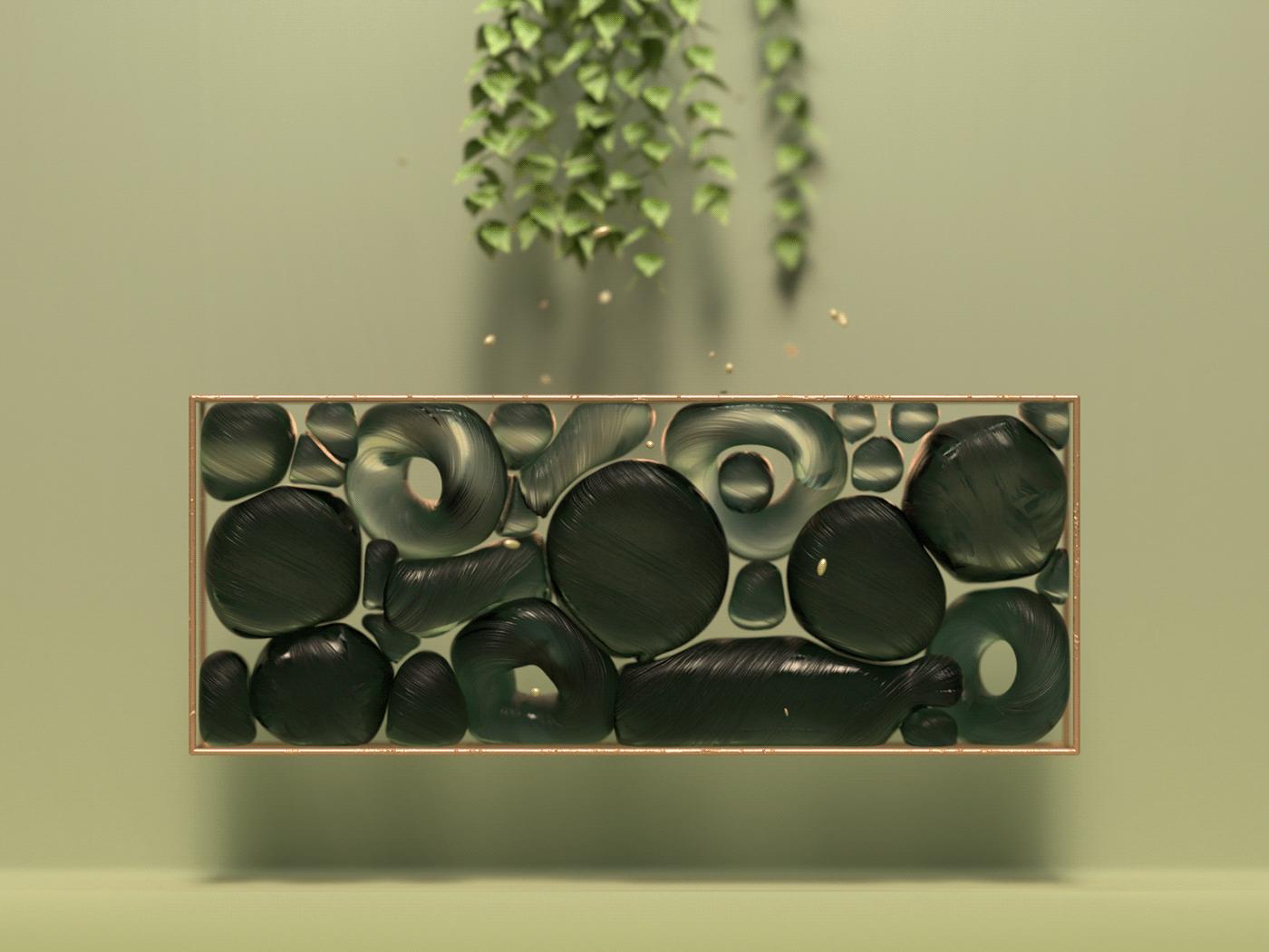 3D cinema 4d concept octane