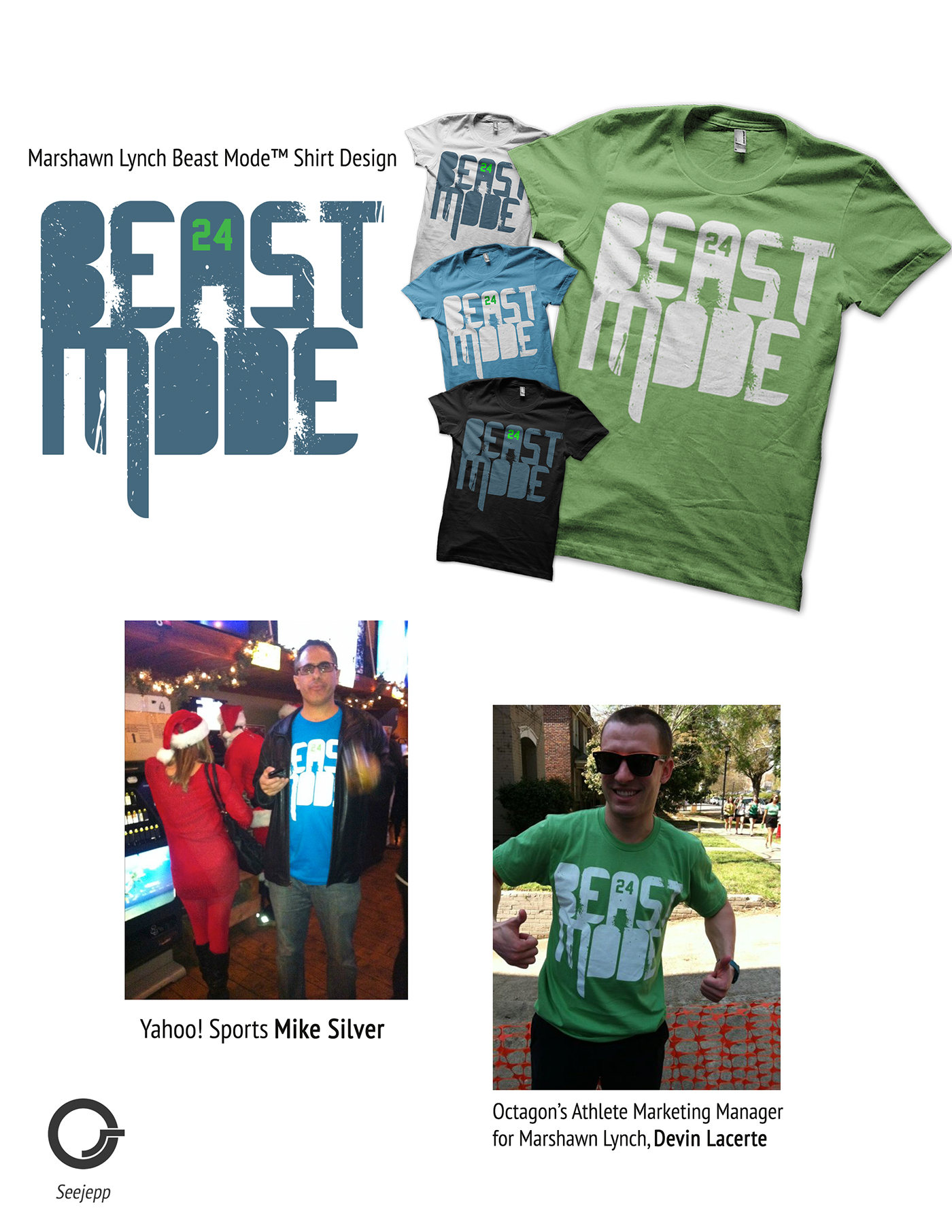 Marshawn Lynch Beast Mode T Shirt Design On Behance