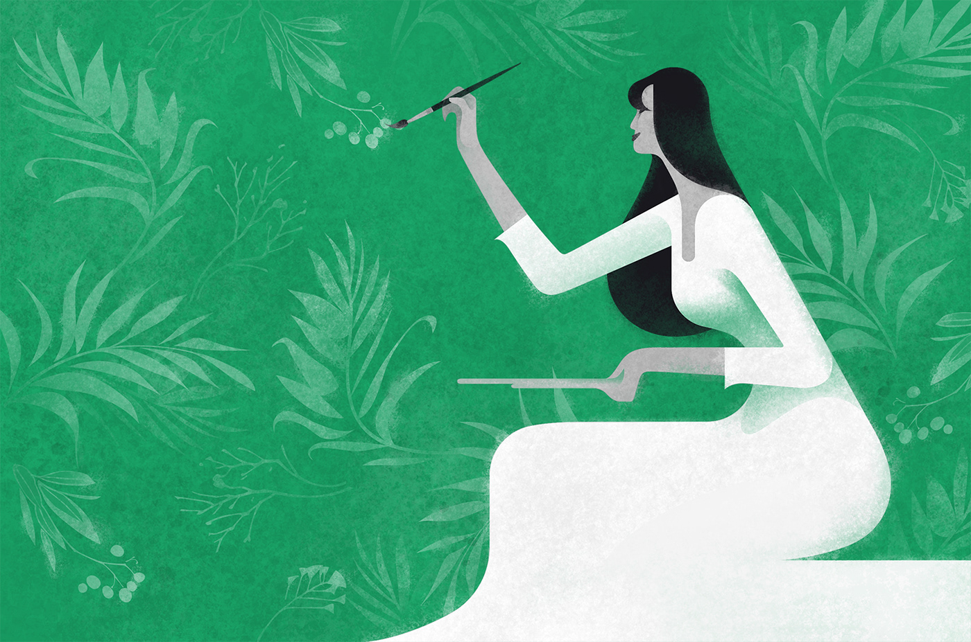 Editorial Illustrations Blog Mailfold gustav klimt inspired painting
