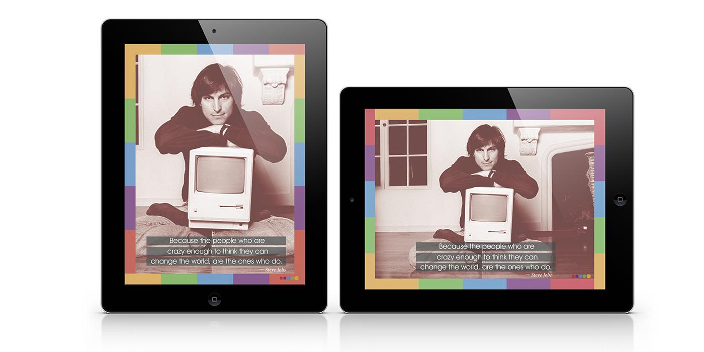 Steve Jobs design Emagazine editorial iPad tablet