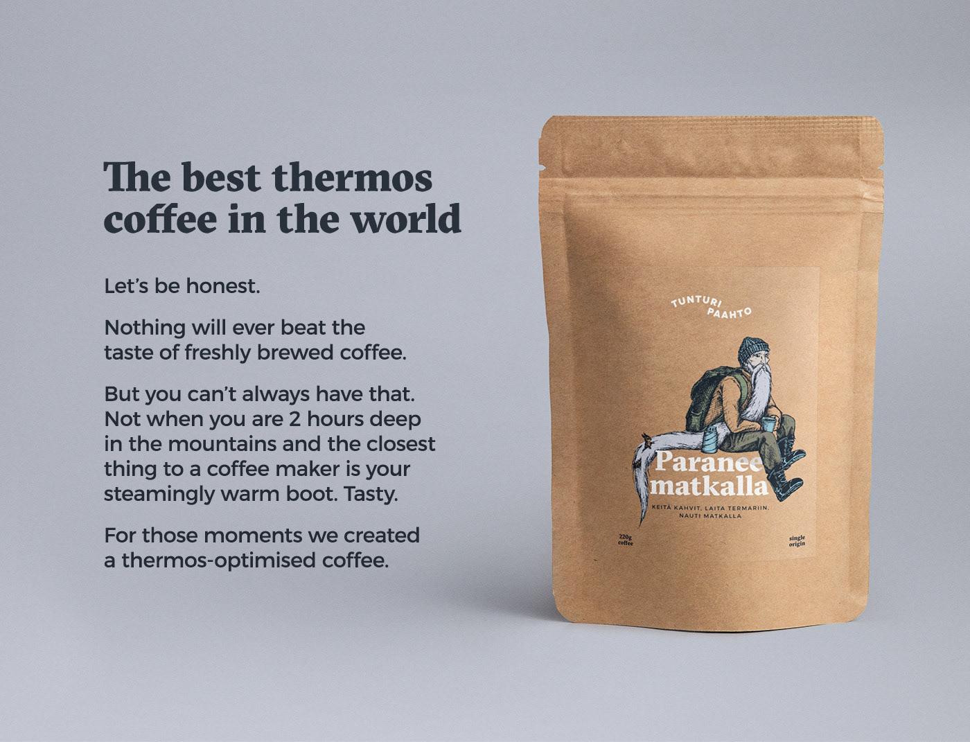Coffee Single origin roast Kraft Travel Nature wilderness outdoors package