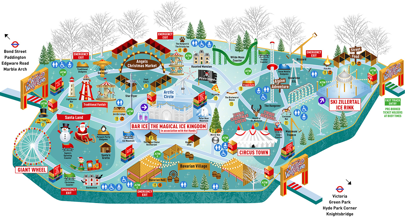 Hyde Park Winter Wonderland Map Hyde Park Winter Wonderland Map on Behance Hyde Park Winter Wonderland Map