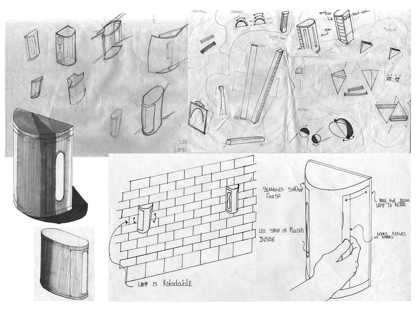 prototype rendring furnace Lamp accent light sheetmetal Prototyping