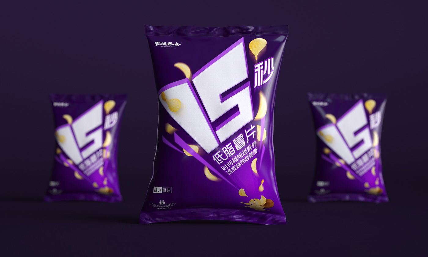 薯片设计 包装设计 食品包装 梵顿设计 package design  design potato chips c4d Food  potato chip packaging