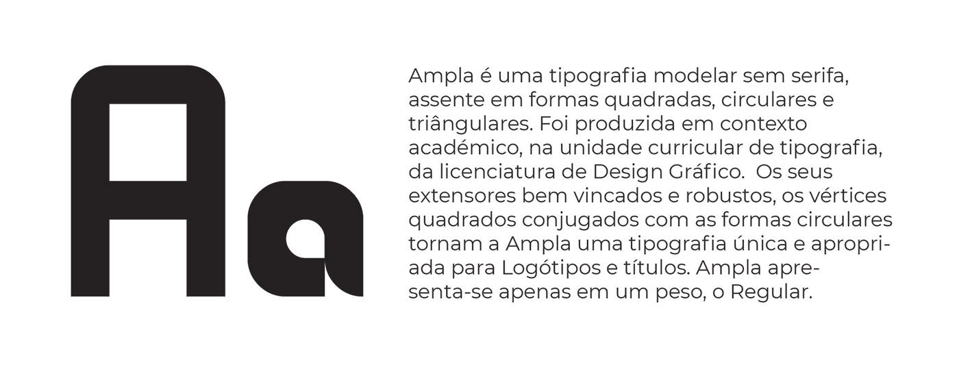ampla design font fonte fontstruct Modelar Type sans serif tipografia tipografia modelar typography