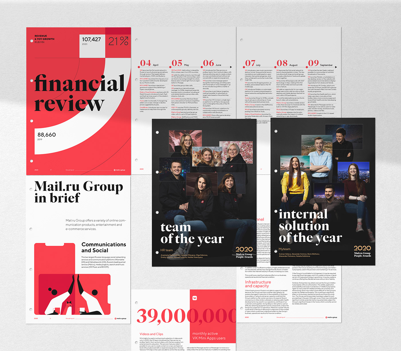 annual report ILLUSTRATION  mail.ru group MARIA FEDOSEEVA people report team Video Call infographics zoom