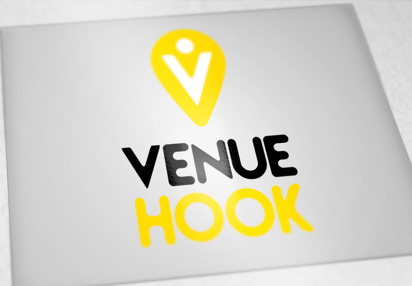 graphic design logo brand branding  venue hook Event wedding Board