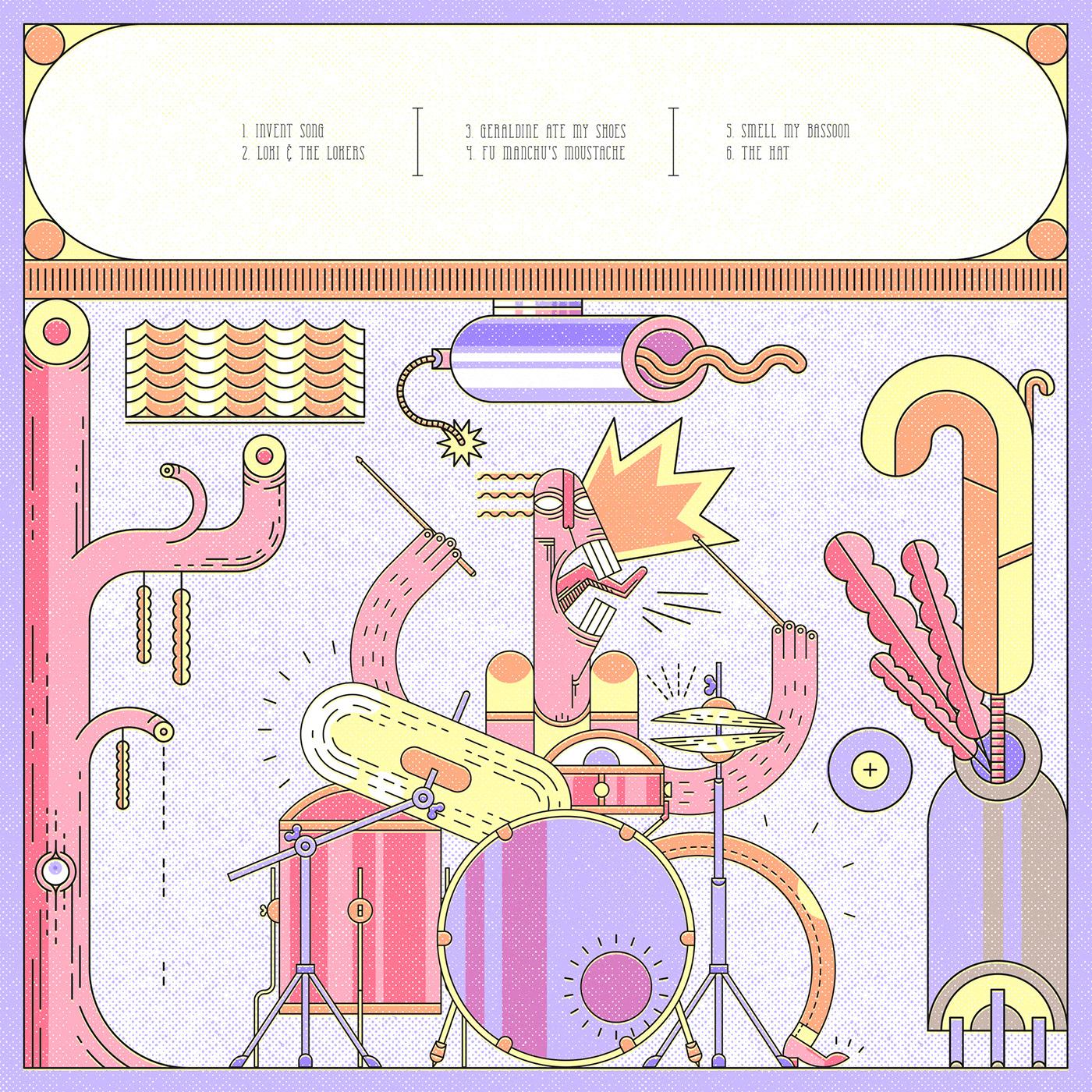 design ILLUSTRATION  diseño ilustracion vinyl vinilo jazz music