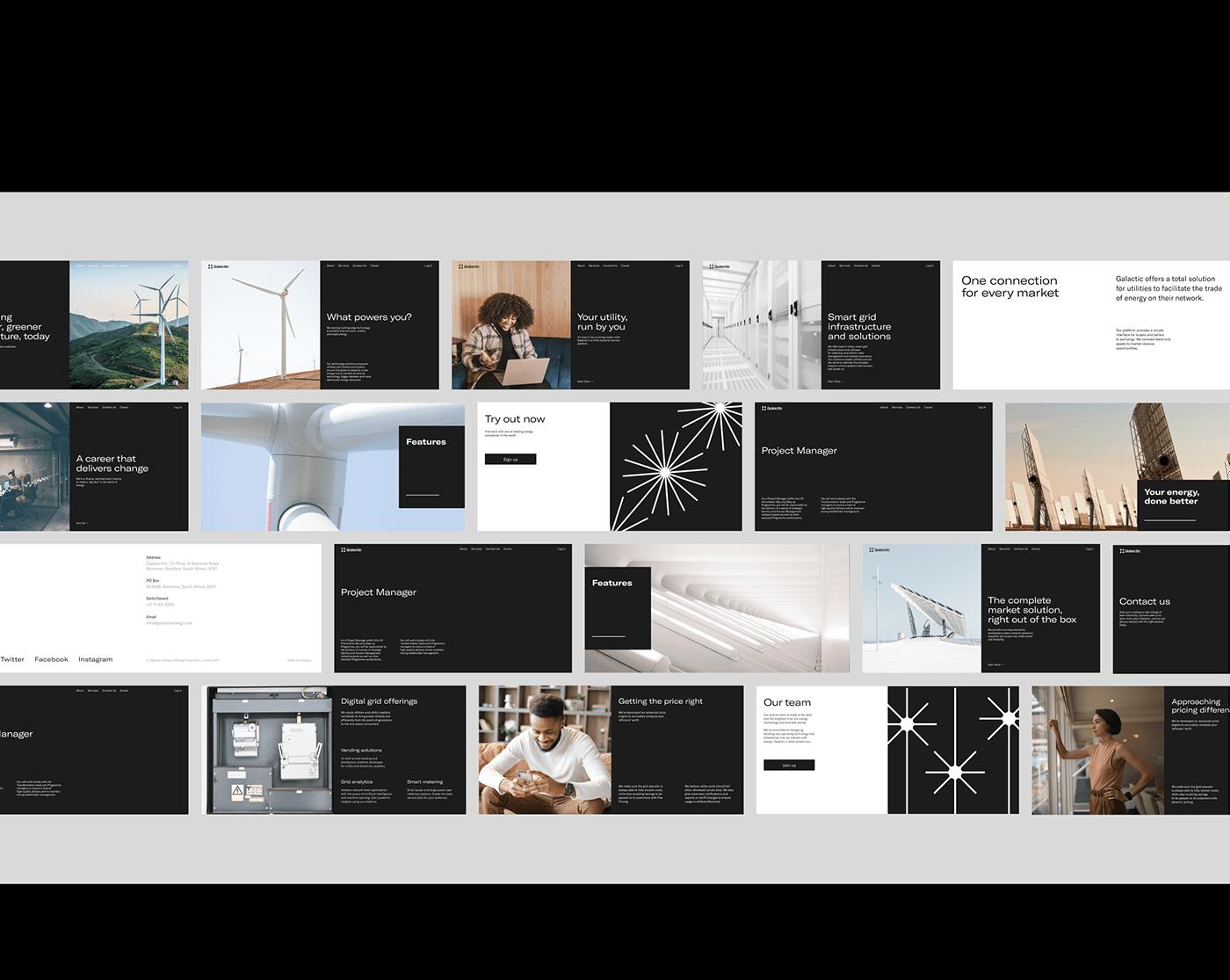africa black Black N White energetic Fintech minimalistic Startup UI Web Website