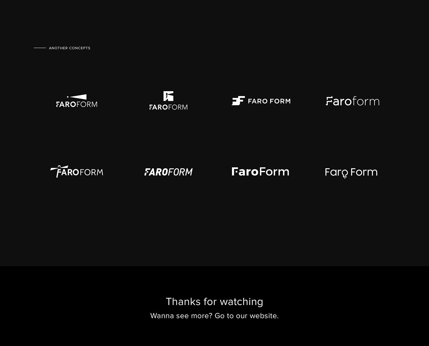 farofrom logo Logo Design lighting lighting brand simple faro light clean light logo