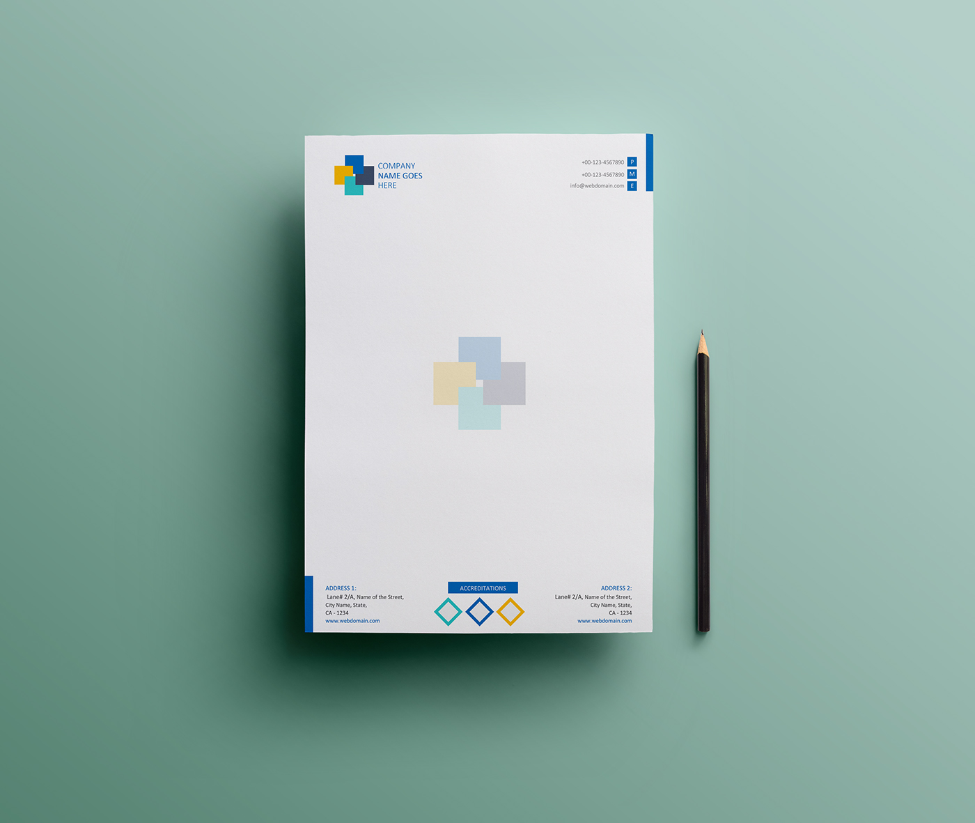 free simple letterhead design ms word version on behance