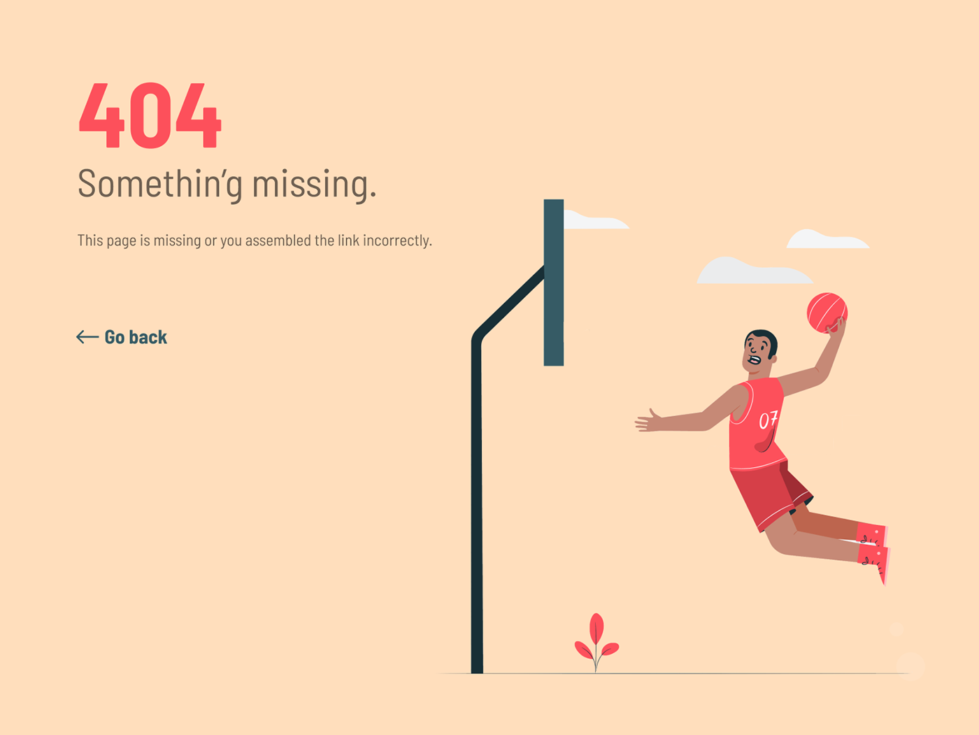 Daily UI #008-404 Page