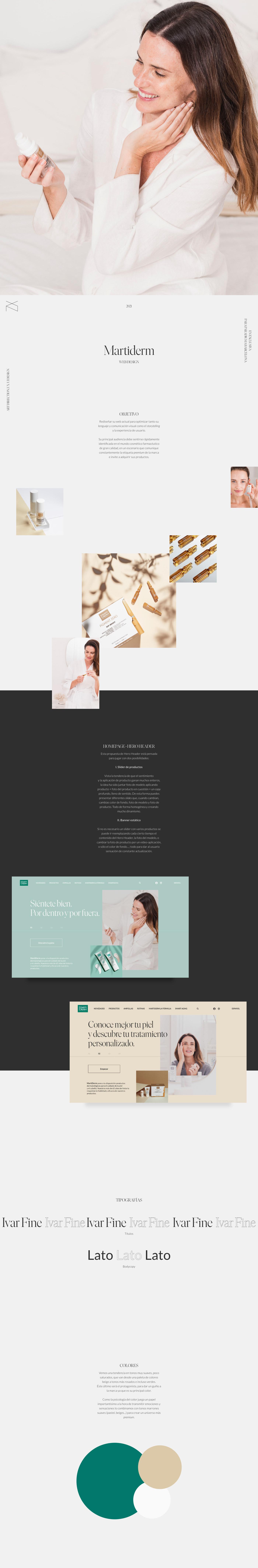 beauty cosmetica cosmetics Ecommerce skin care UI ux Web Website