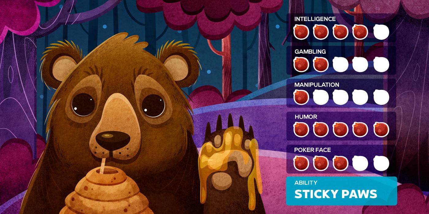 animal board game book card game cartoon Character design  children forest ILLUSTRATION  kid